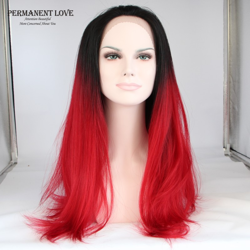 Ombre Red Wig 46