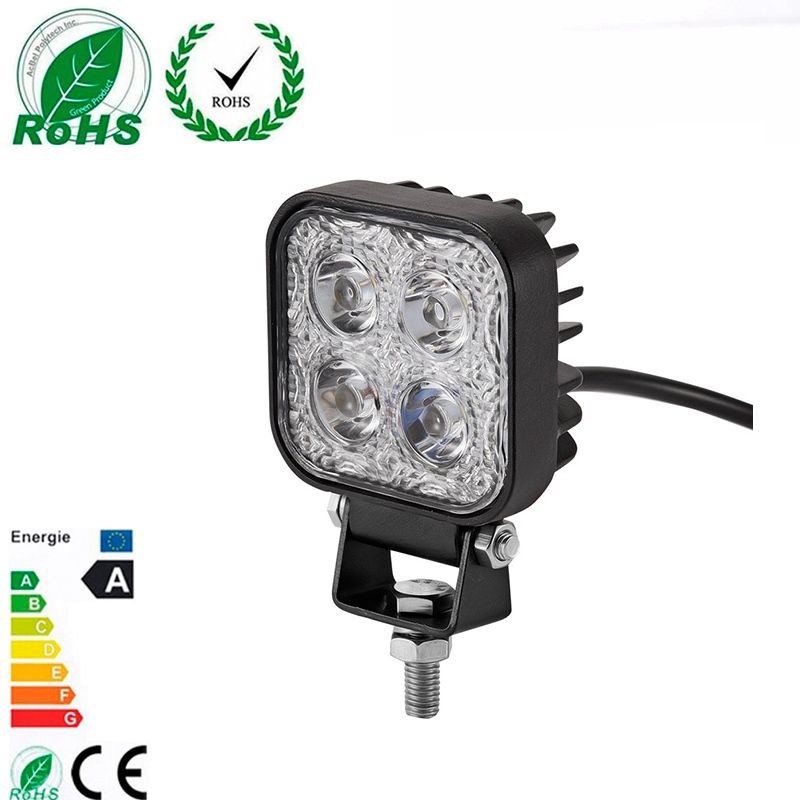 10Pcs/lot 12W LED Car Working Light Bar for Off Road Indicators Work Driving Offroad Boat Vehicle Truck SUV Motercycle