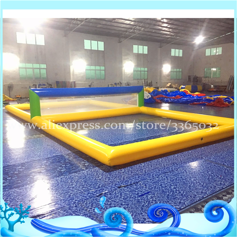 Commercial inflatable water volleyball field for beach water volleyball court for sale