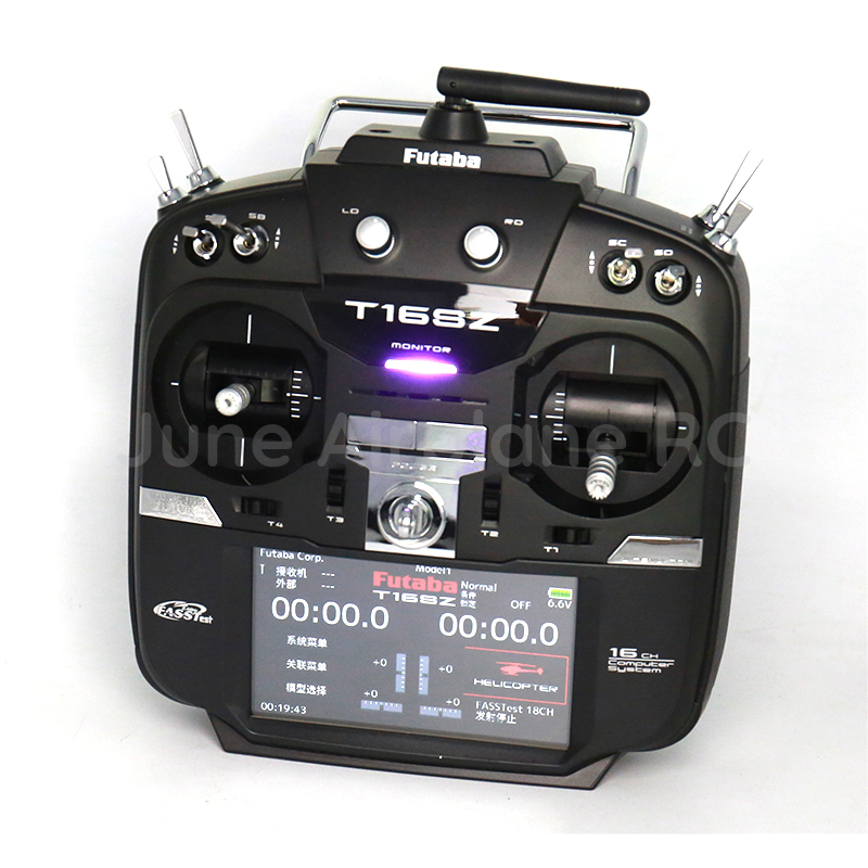Discount Original Futaba 16SZ remote control Ni MH with R7008SB receiver 2 4G for helicopter