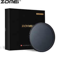 ZOMEI ABS Slim מתכוונן Filtro ניטראלי צפיפות ND2 400 מסנן עבור DSLR מצלמה עדשת לא X דפוס באמצע את תמונה