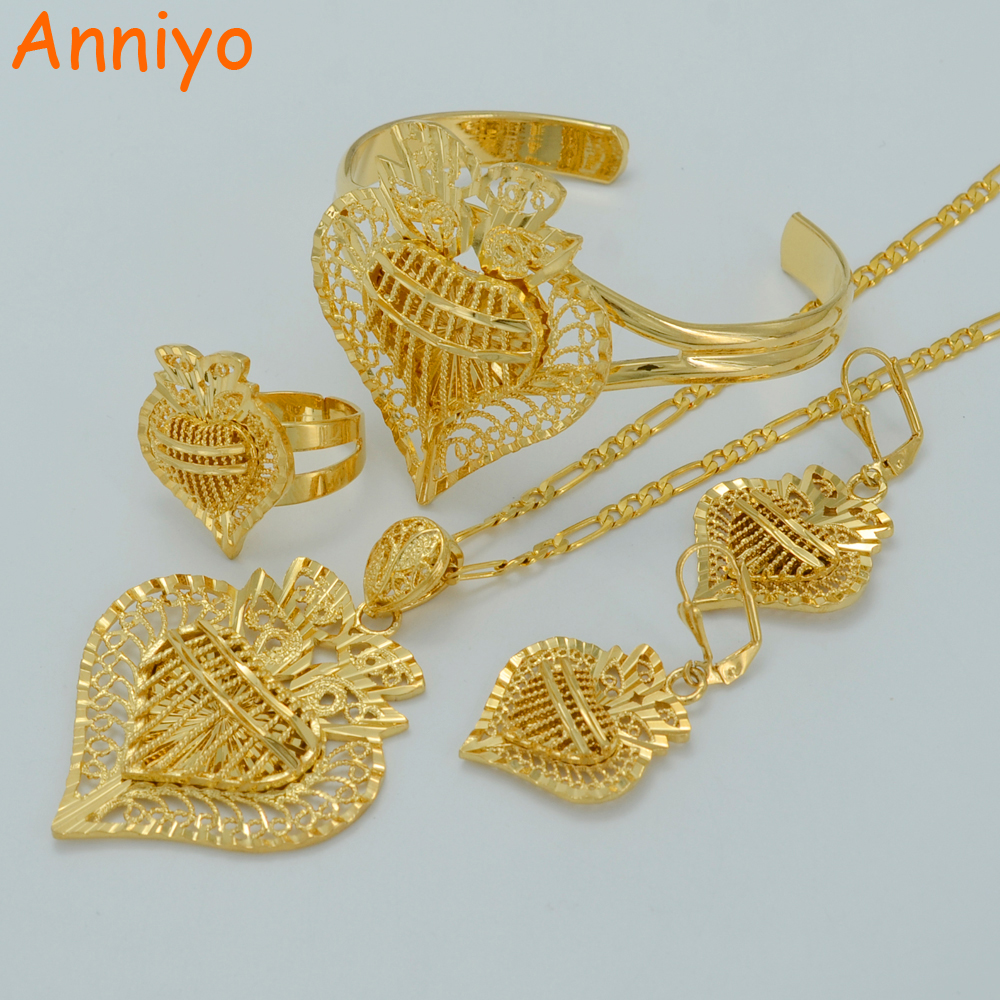 anniyo heart jewelry sets ethiopian necklaces earrings. Black Bedroom Furniture Sets. Home Design Ideas