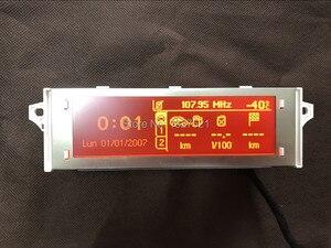 Image 3 - Оригинальный высококачественный дисплей с поддержкой USB, Bluetooth 4, красный монитор с 12 контактным дисплеем для Peugeot 307 407 408 citroen C4 C5