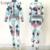 ICHOIX Moda Estilo de Las Mujeres Traje de Ropa Deportiva Sexy Impresión de Dos Piezas Sexy Crop Top y Pantalones Set Buzos Mamelucos Bodycon
