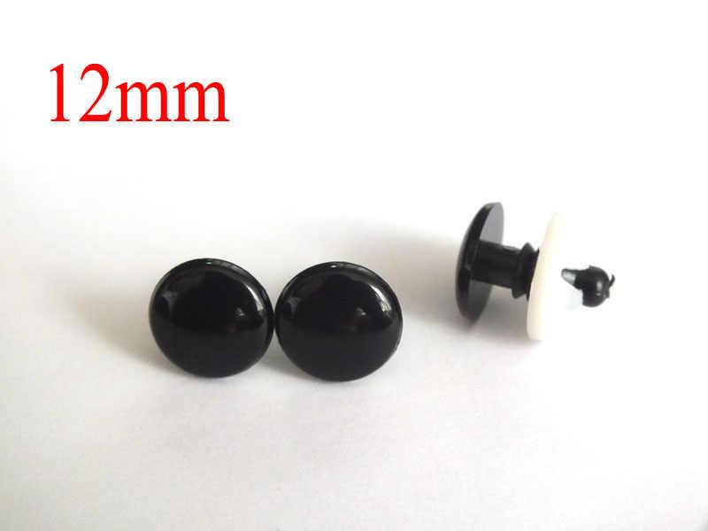 12mm Craft Safety Eyes amigurumi eyes Plastic Eyes Animal Eyes Round safety eye toy eyes Doll Eyes With Washers 10pcs