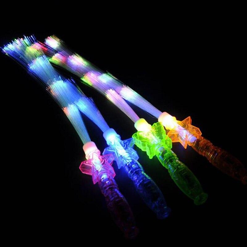LED fiesta de juguete/Concierto/barra de luz Led neón fiesta brillo en la oscuridad juguete fiesta suministros luminosos palillos de brillo para decoración del hogar-in Juguetes con luces from Juguetes y pasatiempos    2