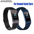 Armband für Huawei Band 3 Pro Strap Metall Ersatz Handgelenk Strap Edelstahl Armband Huawei Band 3pro Strap Accesorio-in Cleveres Zubehör aus Verbraucherelektronik bei