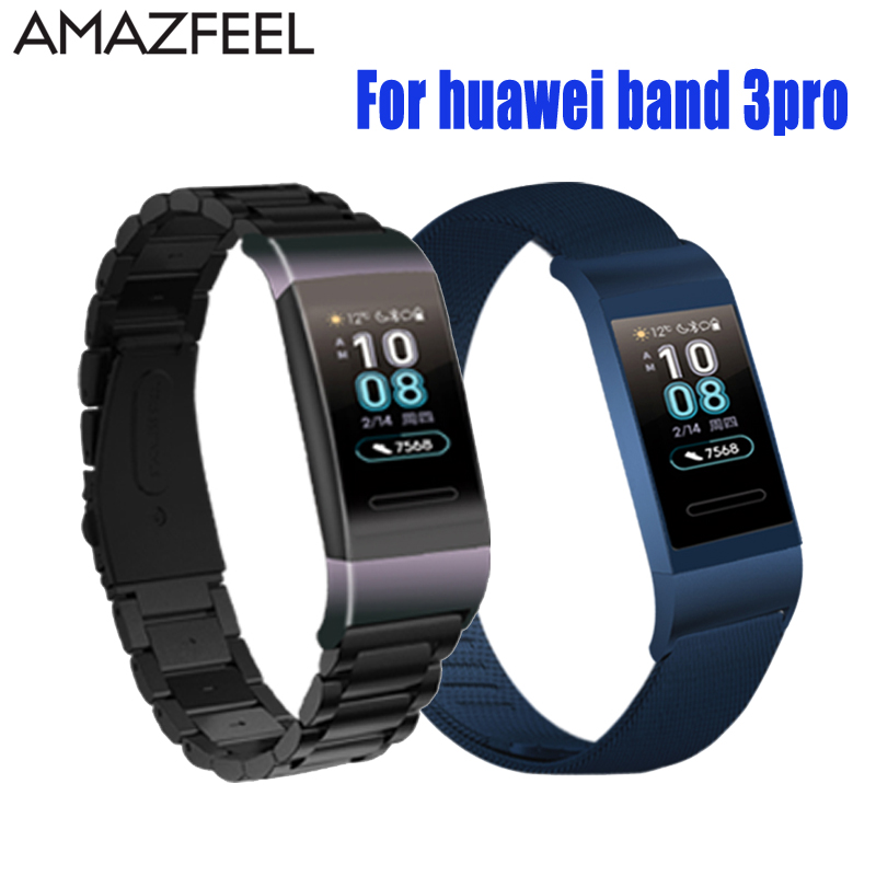 Pulseira para Huawei Banda 3 Pro Substituição Huawei Banda Alça de Pulso Pulseira De Aço Inoxidável De Metal Alça 3pro Cinta Accesorio