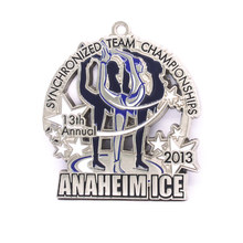 OEM you own LOGO medals Factory direct produce low price custom ice dance enamel high quality silver medal