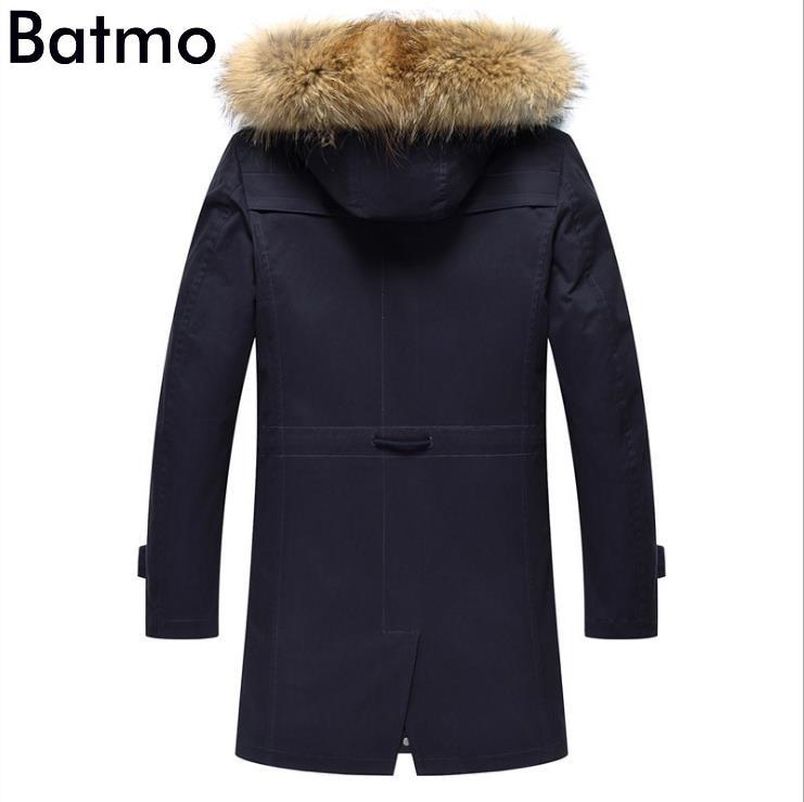 HTB10.mEj4PI8KJjSspfq6ACFXXaB Batmo 2019 new arrival winter high quality warm rabbit fur liner hooded jacket men,raccoon fur collar winter warm coat men