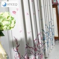 ดอกไม้พิมพ์ผ้าม่านหน้าต่างแผงหน้าต่างเฉดสีผ้าม่านและผ้าม่านผ้าม่านห้องนั่ง