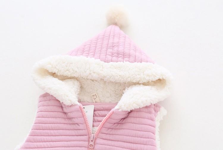 baby girl winter warm fleece vest jacket waistcoat hooded (9)