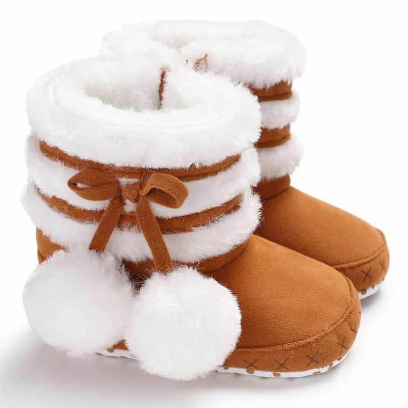 חורף תינוק ילדים בני בנות מגפי רך תחתון חמוד מתוק מזדמן כותנה נוח רוכסן קטיפה קטיפה כדור חם תיקון מגפיים