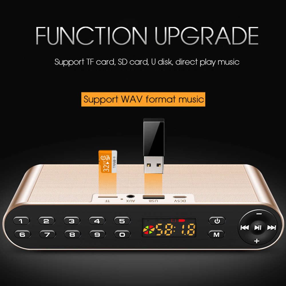 TOPROAD HIFI Bluetooth Speaker Portable Wireless Super Bass Dual Speakers Soundbar with Mic TF FM Radio USB Sound Box 4