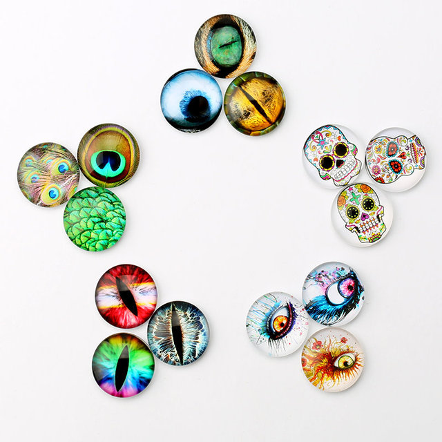 20mm multicolor cabochon dragon eyes skull head round glass cabochon 20mm multicolor cabochon dragon eyes skull head round glass cabochon jewelry finding cameo pendant settings 20pcs aloadofball Gallery