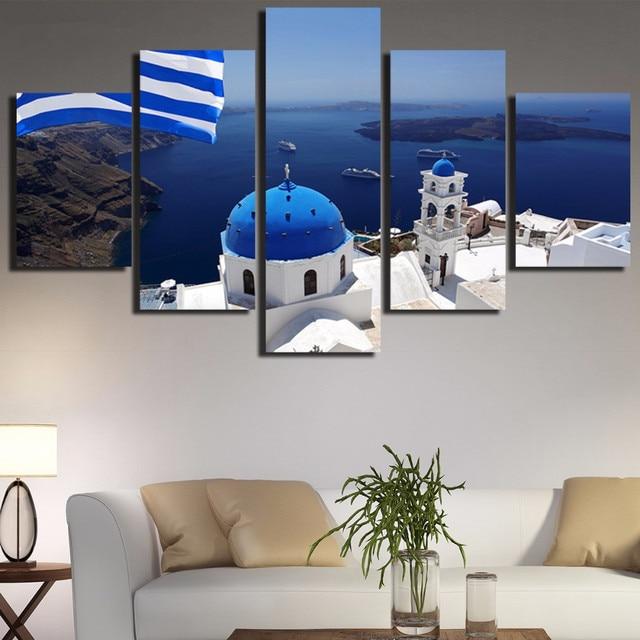 5 stcke leinwand kunst griechenland gis l hd gedruckt malerei moderne wohnzimmer wandkunst bild customized fotos - Modernes Wohnzimmer Wandkunst