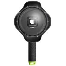 ATIRAR 6 polegada Mergulho Dome Porta Para Xiaomi Yi 4 K 4 K + Yi Lite Sports Cam À Prova D' Água Com Caso Para Xiomi Yi Yi Cúpula 4 K acessórios