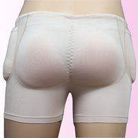 Sexy Push Hip Panties Buttocks Up Lifting Underwear 4pcs Silicone pads realistic shaper Boxers removable inserts shaper