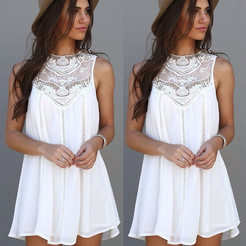 Aliexpress.com : Buy Summer Dresses 2017 Mini Sleeveless Casual ...