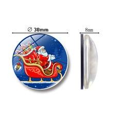 Cartoon Christmas refrigerator magnets Good luck Glass Message Stickers home decoration accessories diy fridge magnet souvenir