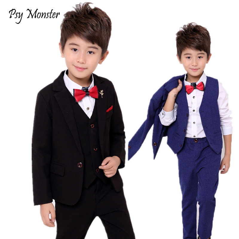 School Boys Suits For Weddings Dress Kids Prom Gentleman Party Jacket Vest Pants Tuxedo Clothing Set Child Formal Costume B047School Boys Suits For Weddings Dress Kids Prom Gentleman Party Jacket Vest Pants Tuxedo Clothing Set Child Formal Costume B047