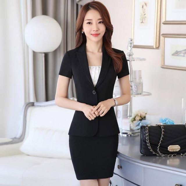 2016 Nuevo de Corea Del Otoño del Resorte mujeres de la moda volantes trajes de falda de carrera OL chaqueta y falda oficina capa de La Chaqueta más el tamaño