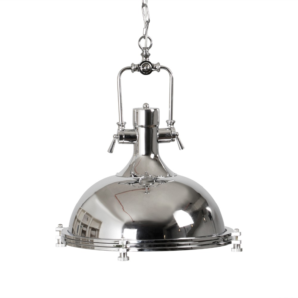 Homestia Country Pendant Lamps Metal Industrial Chrome