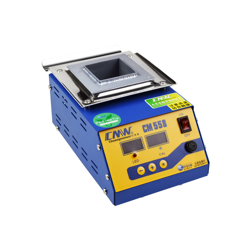 CM-558  Digital Display 300w Melt Tin 1.4KG Temperature Adjustable Melting Tin Furnace Lead-free Solder Pot Square Tin Stove