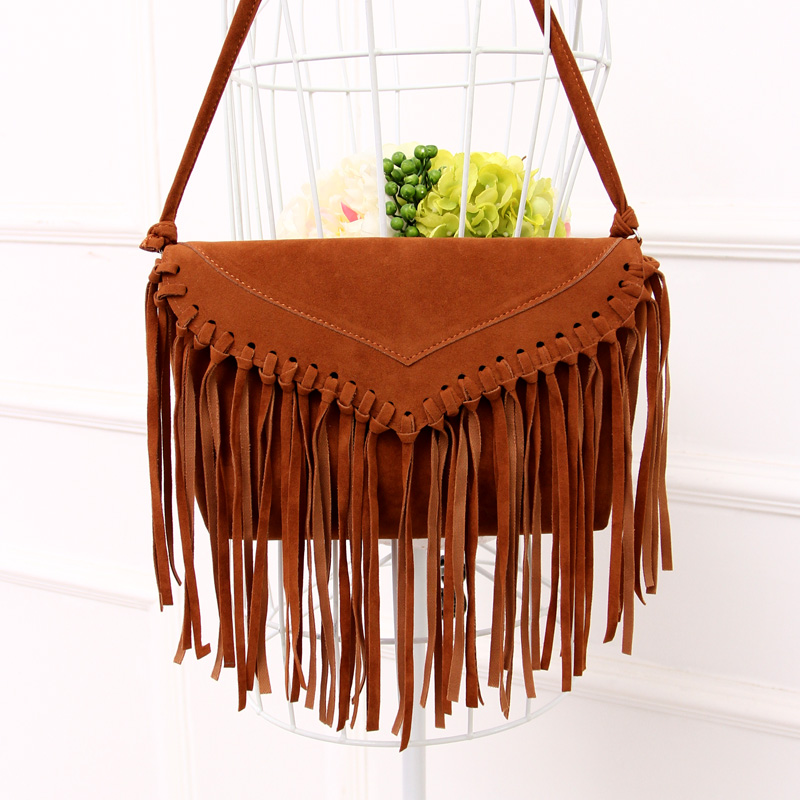 Suede Leather Women Messenger Bags Fringe Bag S Crossbody Small Tassel Bolsas Femininas In Top Handle From Luggage On