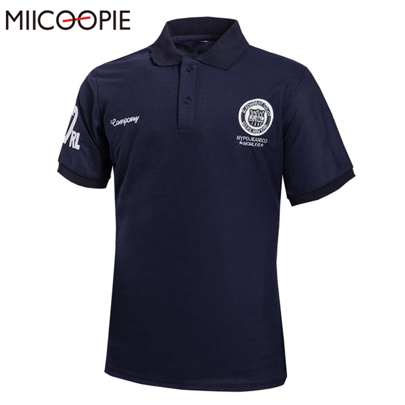 MIICOOPIE Brand   Polo   Shirt Men Short Sleeve Casual Solid   Polos   Men's Slim Fit Breathable   Polo   Shirt Homme 7 Colors Size M-5XL