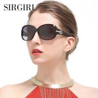 Polarisierte Frauen Sonnenbrille Mode Weibliche Große Runde Großen Rahmen Marke Designer Retro Cat Eye Damen Sonnenbrille Frau Brillen