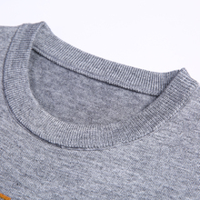 New 2018 pullover men sweater solid color long men's knitted slim Round neck sweaters men pull