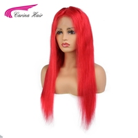 Carina Hair Brazilian Remy Hair Lace Front Human Hair Wigs With Baby Hair Pre Plucked Hairline