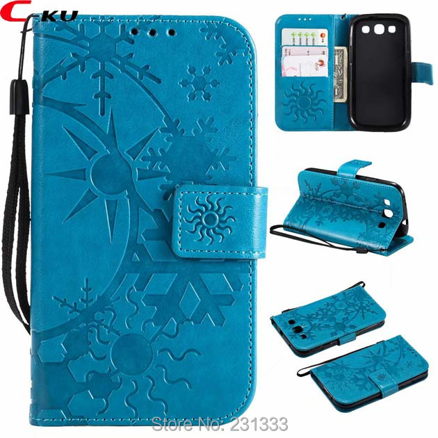 C-ku Snow Wallet Leather Pouch Case For Samsung Galaxy S7 EDGE S5 S6 S8 PLUS S9 NOTE8 J2 PRO 2018 A8 Stand TPU ID Card Skin 1pcs(China)