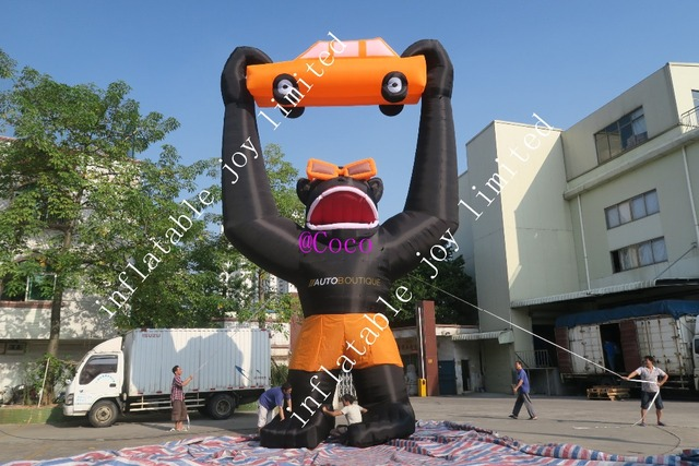 free shipping 10m 33ft tall inflatable gorilla cartoon big