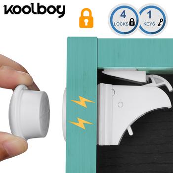 4 zamki 1 klucze magnetyczne zabezpieczenie przed dziećmi szafa bezpieczeństwa blokada ochrona dzieci dzieci szuflada szafka szafka zabezpieczenia przed dziećmi tanie i dobre opinie LK-001-KB Cabinet Lock 4-6Y 10-12M 4-6M 7-9M 19-24M 13-18M 2-3Y Type Plastic 4 ps locks and 1 keys Drawer Lock