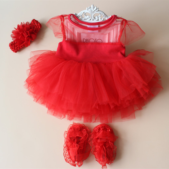 Baby Girl Baptism Dresses Wedding Dress 2 In Girls 1 First Birthday Tutu Red Tulle