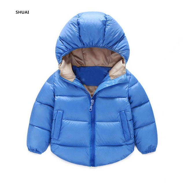 New Boys Down Parkas Kids Jackets Children Winter Thick Warm Coats Baby Fashion Thermal Liner Down Outerwear Clothing