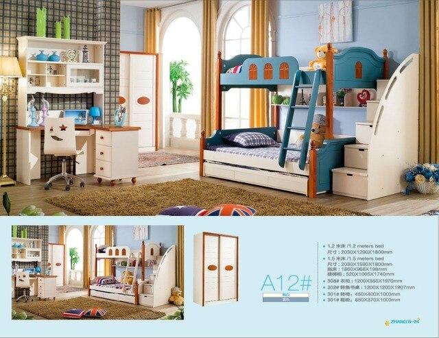 2018 Promotion Literas Bunk Beds Limited Wood Kindergarten Furniture Lit Enfants Meuble Childrens With Stairs Kids Bedroom Sets