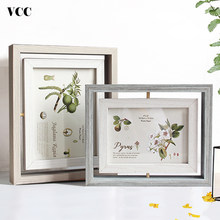 Rotate Wood Photo Frame,Picture Frame Art,Nordic 10X15 13X18cm Poster Frame For Tabletop Decoration,Painting Frame(China)