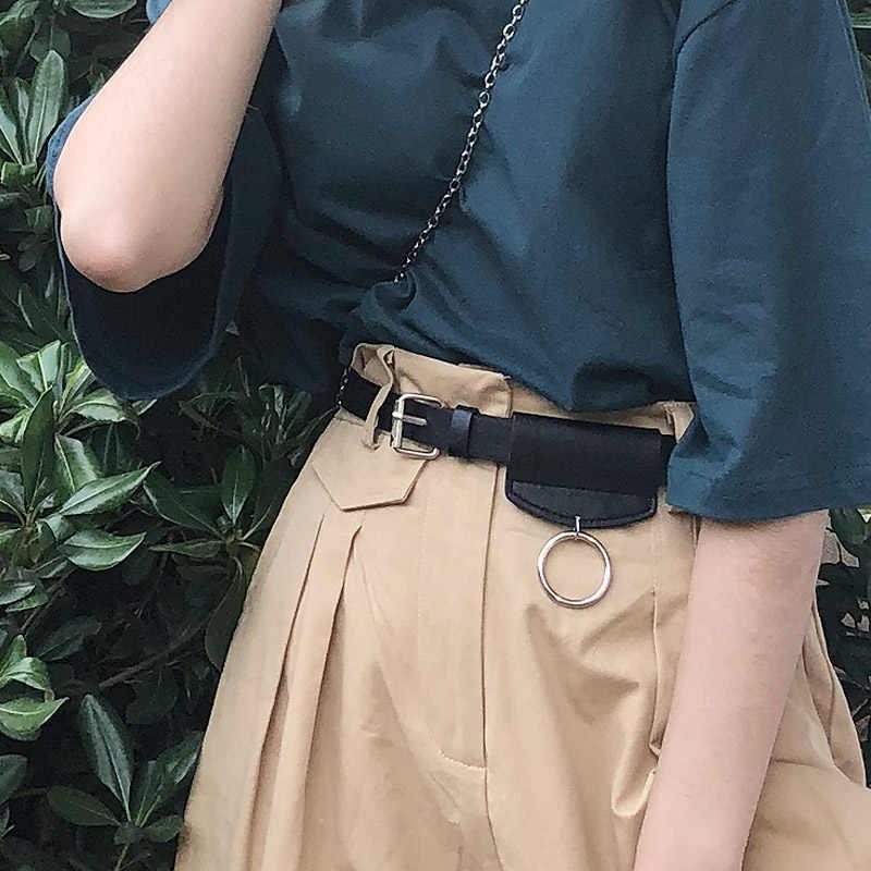 2019 Merek Desainer Perak Bulat Logam Lingkaran Ikat Pinggang untuk Wanita Punk Jeans Pinggang Besar O Ring Sabuk Pria Aksesoris Pakaian