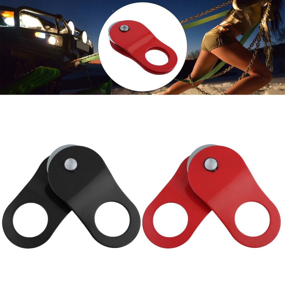10T Winch Pulley Snatch Block For Winch Rope Tow Trailer Webbing Lifting Professional Electric Winch Accessories Black/Red Color