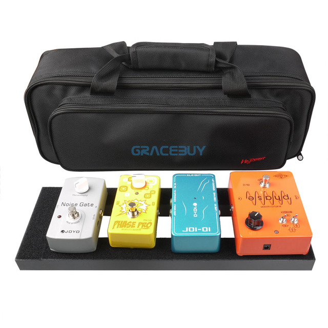 Guitar Effect Pedal Board Setup 40X13 CM DIY Guitar Pedalboard With Magic Tape Musical Instrument Accessory For Sale