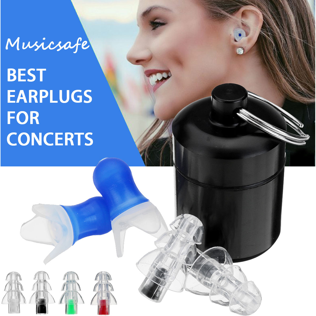 NEW 2Pcs Noise Cancelling Earplugs Hearing Protection Reusable Silicone Ear Plugs For Sleep Concerts Musician Bar Drummer 1 pair ear plug silicone ear plugs anti noise earplugs for sleeping ear protector motorcycle drummer musician concerts earbuds