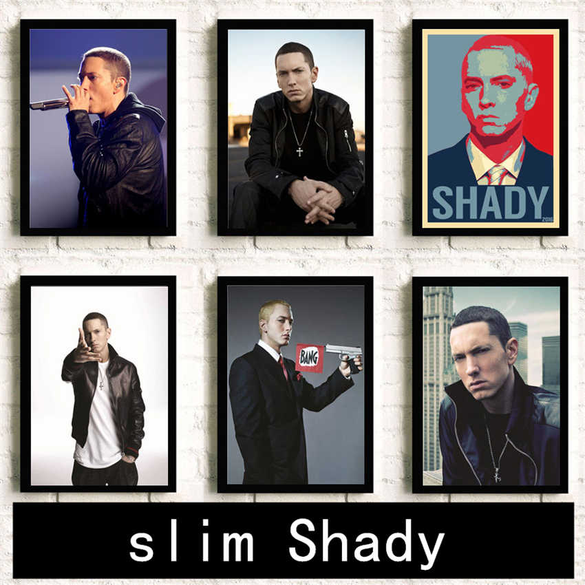 Eminem poster Hip Hop rap Painting Room decoration HD Home Decor room wall art posters canvas painting K155