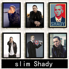 Eminem poster Hip Hop rap Painting Room decoration HD Home Decor room wall art posters canvas painting K155(China)