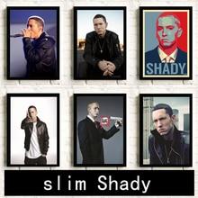 Póster Eminem Hip Hop rap cuadro decoración de habitación HD decoración del hogar Pared de habitación carteles artísticos lienzo pintura K155