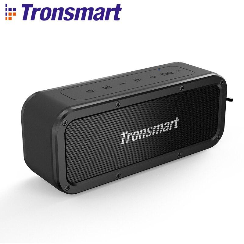 Tronsmart Element Force Bluetooth haut-parleur IPX7 étanche Portable haut-parleur 40 W ordinateur haut-parleurs 15 H Playtime avec caisson de basses, NFC