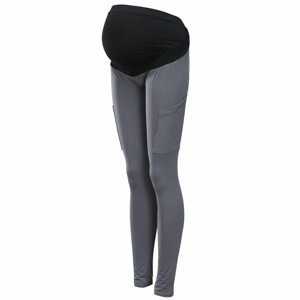 สตรีคลอดบุตร Leggings ไม่มีรอยต่อปรับ leggings สำหรับหญิงตั้งครรภ์กางเกงยืดการตั้งครรภ์กางเกง # EW