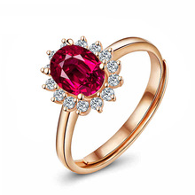 2017 Top Fashion Real Anillos Rings Charms Jewelry Exquisite High-end Corundum Ring S925 Pure Plating Rose Sterling Jewelry